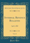 Internal Revenue Bulletin  Vol  13 PDF