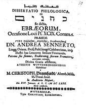 Diss. philol. kohanîm sic dictis, Ebraeorum, occasione loci Ps. XCIX, comm. 6