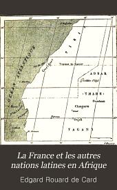 La France et les autres nations latines en Afrique