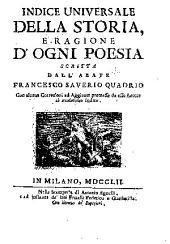 Della storia e della ragione d'ogni poesia volumi quattro: Volume 5