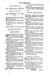 Palaestra biblica sive Enchiridion neotericorum pro sacris Codicibus rite tractandis, et difficultatibus Scripturae Sacrae Scholastice discutiendis: tomus tertius