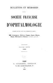 Bulletins et mémoires de la Société française d'ophtalmologie: Volume11