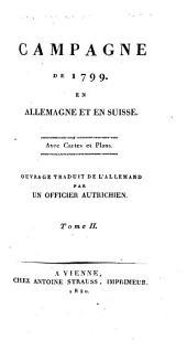 Campagne de 1799 en Allemagne et en Suisse: Volume2