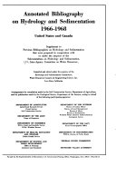 Annotated Bibliography on Hydrology and Sedimentation  1966 1968  United States and Canada