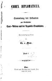 Codex diplomaticus [ad historiam Raeticam]: 1848-1854