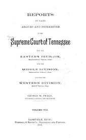 Reports of Cases Argued and Determined in the Supreme Court of Tennessee: Volume 92