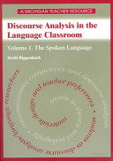 Discourse Analysis in the Language Classroom PDF