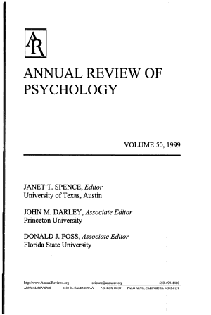 Annual Review of Psychology PDF
