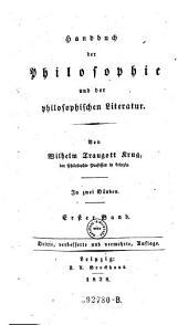 Handbuch der Philosophie und der Philosophischen Literatur