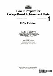 How to Prepare for College Board Achievement Tests  mathematics  Level 1 PDF