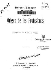 Origen de las profesiones