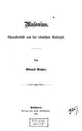 Musonius: Charakterbild aus der römischen Kaiserzeit ...