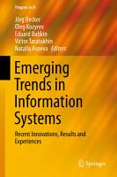 Emerging Trends in Information Systems PDF