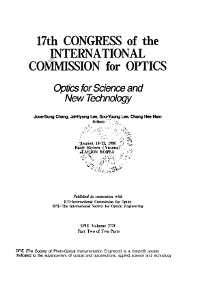 Optics for Science and New Technology PDF