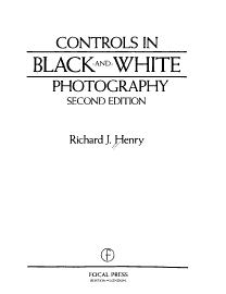 Controls In Black And White Photography