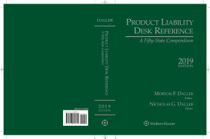 Product Liability Desk Reference  A Fifty State Compendium  2019 Edition  IL  PDF