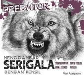 Menggambar Serigala dengan pensil