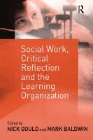 Social Work  Critical Reflection and the Learning Organization PDF