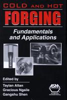 Cold and Hot Forging PDF