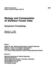 Biology and Conservation of Northern Forest Owls PDF