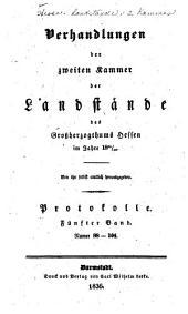 Verhandlungen der Zweiten Kammer der Landstände des Grossherzogthums Hessen