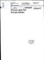 Health Assessment Document for Acrylonitrile