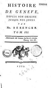 Histoire de Genève depuis son origine jusqu'à nos jours