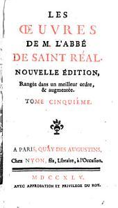 Oeuvres: Des traductions de M. l'abbé de S. Réal