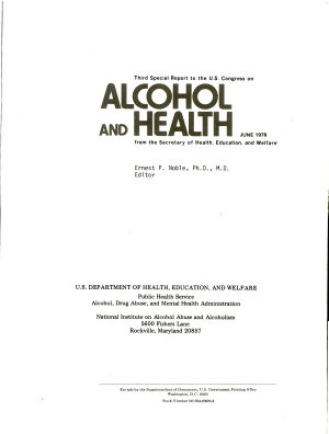 Special Report to the U S  Congress on Alcohol   Health from the Secretary of Health  Education  and Welfare PDF