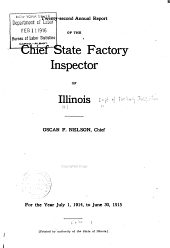 Annual Report of the Factory Inspector of Illinois