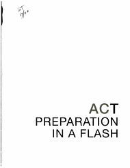 ACT Preparation in a Flash PDF