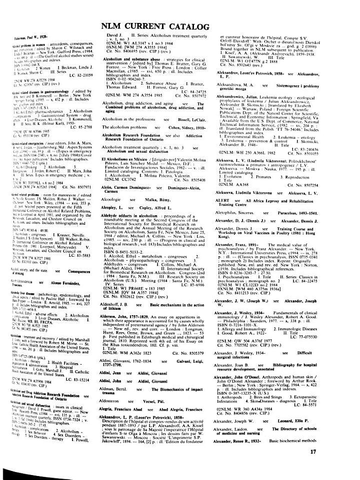 Current Catalog