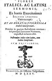Flores italici ac latini sermonis