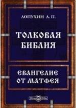 Толковая Библия или комментарий на все книги Священного Писания Ветхого и Нового Заветов. Евангелие от Матфея