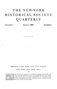 New York Historical Society Quarterly PDF