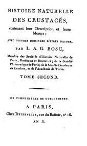 Histoire naturelle des crustacés: contenant leur description et leurs moeurs : avecc figures dessinées d'après nature, Volume2