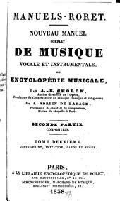 Manuel complet de musique vocale et instrumentale: ou, Encyclopédie musicale, Partie2,Volume2