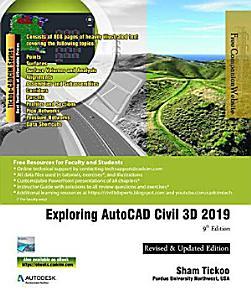 Exploring AutoCAD Civil 3D 2019  9th Edition PDF