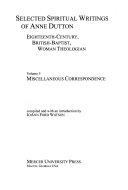 Selected Spiritual Writings of Anne Dutton PDF
