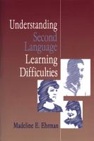 Understanding Second Language Learning Difficulties PDF