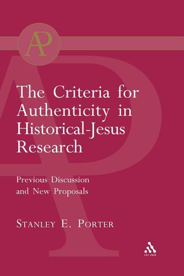 Criteria for Authenticity in Historical Jesus Research PDF