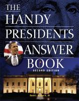 The Handy Presidents Answer Book PDF