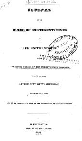 Journal of the House of Representatives of the United States: Volume 22, Issue 2