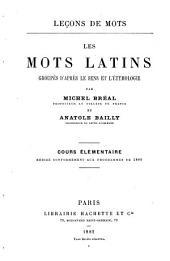 Les mots latins groupés d'après le sens et l'étymologie: Volume2