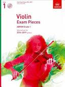 Violin Exam Pieces 2016-2019, ABRSM Grade 1, Score, Part & CD