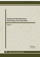 Equipment Manufacturing Technology and Automation PDF