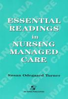 Essential Readings in Nursing Managed Care PDF