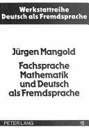 Fachsprache Mathematik und Deutsch als Fremdsprache PDF