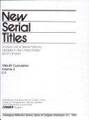 New Serial Titles PDF