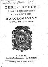 Christophori Clavii horologiorum nova descriptio